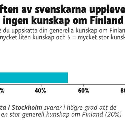Diagram över svenskars kunskap om Finland