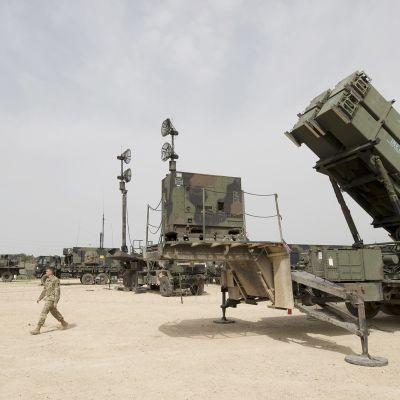Patriot-ohjuksia on käytössä muun muassa Israelissa. Kuva on Yhdysvaltojen ja Israelin maaliskuussa 2018 järjestetystä yhteisestä sotaharjoituksesta.