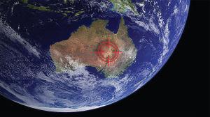Australia asteroidi-iskun paikka