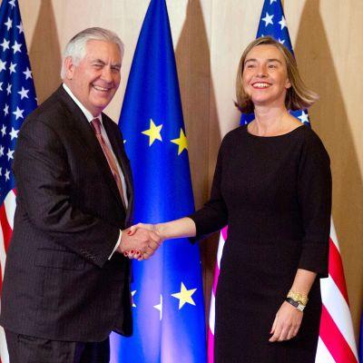 Rex Tillerson ja Federica Mogherini.