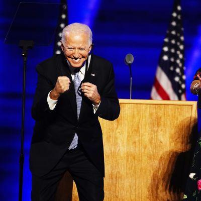 Joe ja Jill Biden 7. marraskuuta