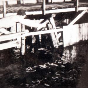 Eero Blåfield nuorena uintiharrastuksessa.