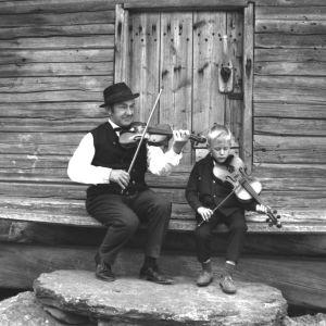 Säveltäjä Konsta Jylhä ja RSO:n konserttimestari Jari Valo