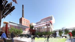 Ehdotus Lielahden tehdasalueesta