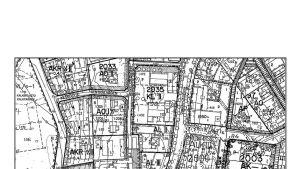 Karta över två höghustomter i Virkby.