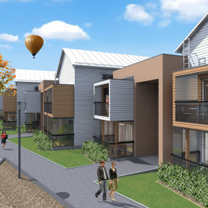 Bild på planerade nya bostäder