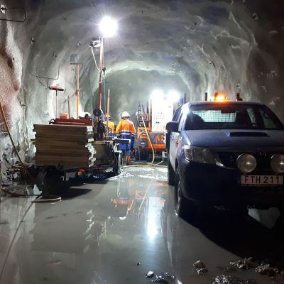 Arctic Drilling Company tekee tutkimuskairauksia Outokummun Kemin kaivoksessa.