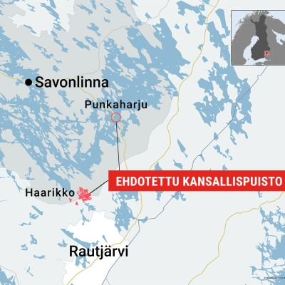 Punkaharjun-Haarikon kansallispuisto, Haarikko, Punkaharju, Etelä-Karjala, Rautjärvi, Kouvola, ympäristönsuojelu