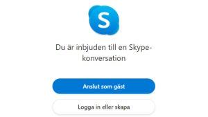 Inbjudan att delta på Skype