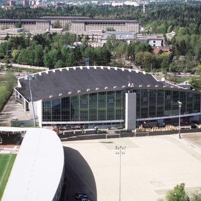 Helsingin jäähalli vuonna 2001.