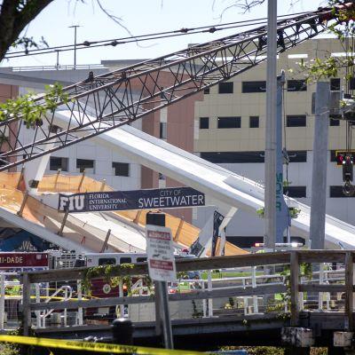 Vastavalmistunut kävelysilta romahti Floridan Miamissa.