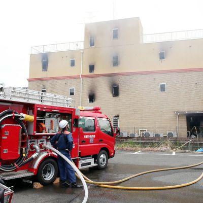 Useita kuolonuhreja animaatiostudion palossa Japanissa