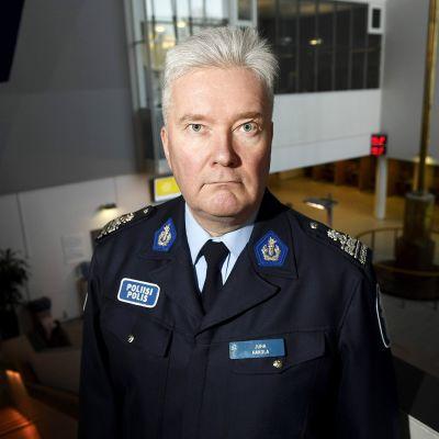 Juha Hakola kuvattuna Pasilan Poliisitalolla Helsingissä tammikuussa 2017.