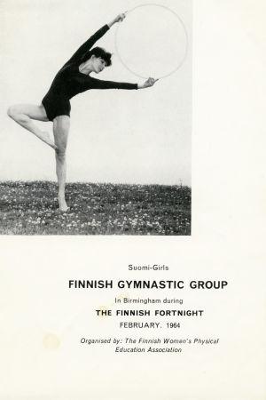 Suomi-Tyttöjen Birminghamin esityksen ohjelma 1964.