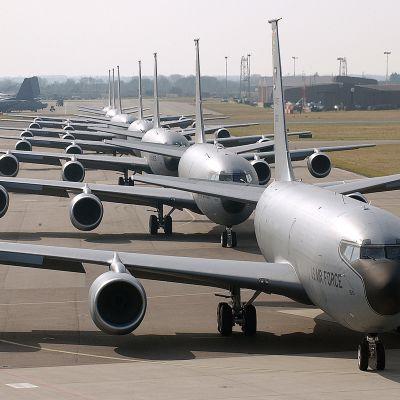 Yhdysvaltojen ilmavoimien tukikohta Mildenhallissa Britanniassa
