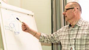 Vr:s punklighetskoordinator Egon Blomqvist förklarar hur punktligheten mäts