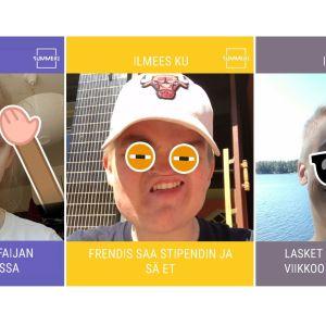 Kolme Summerin Ilmeesku-filtterillä otettua kuvaa