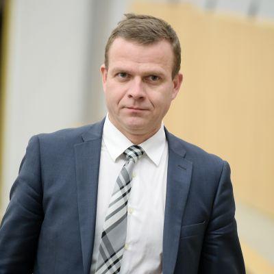 Petteri Orpo eduskunnan täysistunnossa 9. marraskuuta.