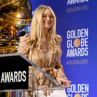 Dakota Fanning Golden Globe -ehdokkaiden julkistustilaisuudessa.