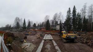 Byggandet av Torvbanevägen i Mankans.