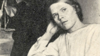 Maria Åkerblom Kammion sairaalassa 1924