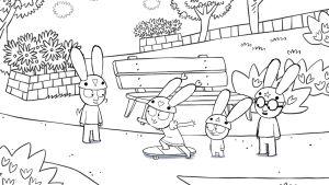 Animaatiosarja Simo, värityskuva