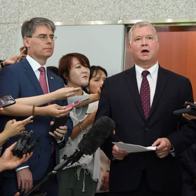 Erityislähettiläs Stephen Biegunista on tulossa Yhdysvaltain varaulkoministeri. Biegun puhui lehdistölle Etelä-Korean Soulissa elokuussa.
