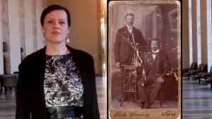 Maarit Feldt-Ranta och hennes farfars far Fredrik Feldt och hans bror Vilho Palmu.