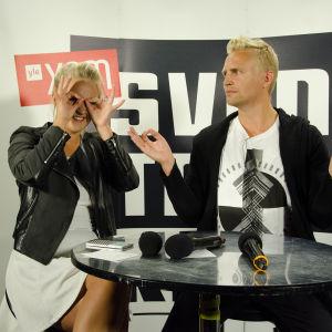 Fredrika och Janne hade roligt.