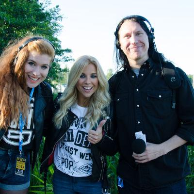 Pernilla Karlsson, Krista Siegfrids och Kjell Simosas.