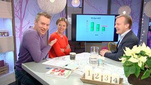 Bild på mårten svartström, sonja kailassaari och robert bergholm