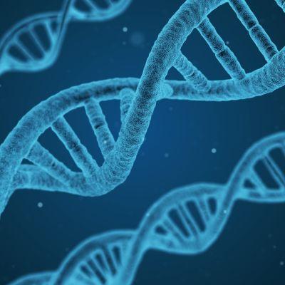 DNAn kaksoiskierre sinisävyisenä
