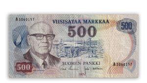 500 marks sedel från 1975.