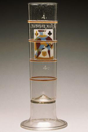 Tyskt passglas från tidigt 1700-tal.
