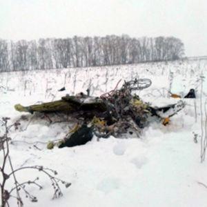 Vrakspillror har spritts ut över ett stort område vid olycksplatsen söder om Moskva
