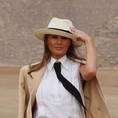 Melania Trump vierailullaan Egyptissä.