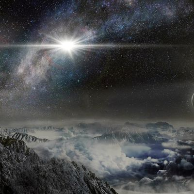 Havainnekuva eksoplaneetasta.