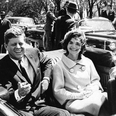 John F Kennedy och Jacqueline Kennedy.
