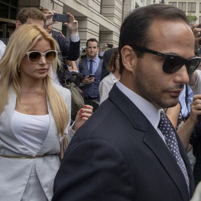 Trumpin ex-avustaja George Papadopoulos poistui oikeudesta Washingtonissa 7. syyskuuta 2018.