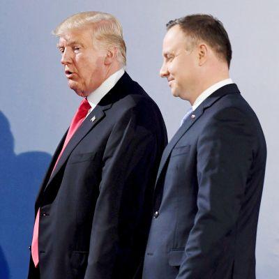 Donald Trump ja Andrzej Duda