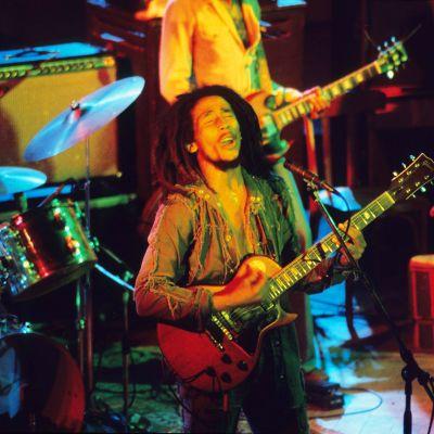 Bob Marley esiintymässä Hampurissa 1976.