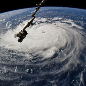 Fotografiet av orkanen Florence togs på den internationella rymdstationen ISS