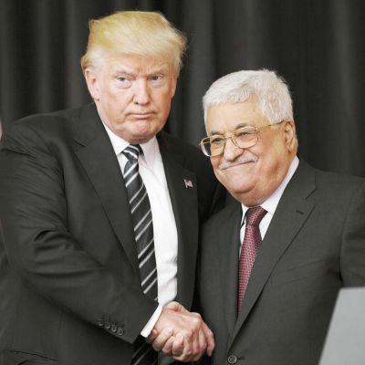 Donald Trump ja Mahmoud Abbas tapaavat Betlehemissä
