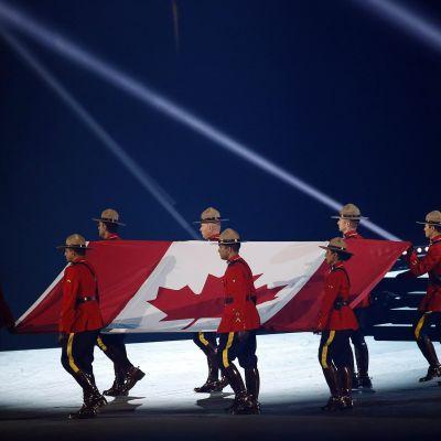 Kanadan lippu Pan-Amerikan kisoissa.