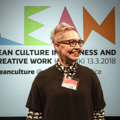Mirette Kangas 13.3. järjestetyssä Lean Culture in Business and Creative Work -foorumissa