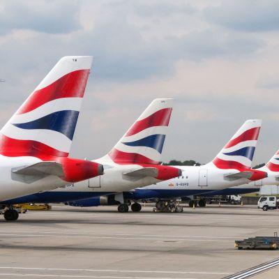 Näkymä Heathrowin lentokentältä.