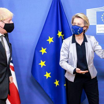 Boris Johnson ja  Ursula von der Leyen