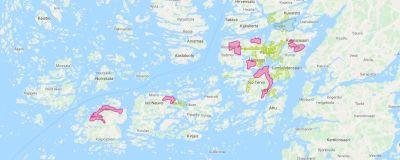 Karta Over Sveriges 25 Landskap.Fibernatet Byggs Ut Pa Sju Omraden I Pargas Men Bara Om