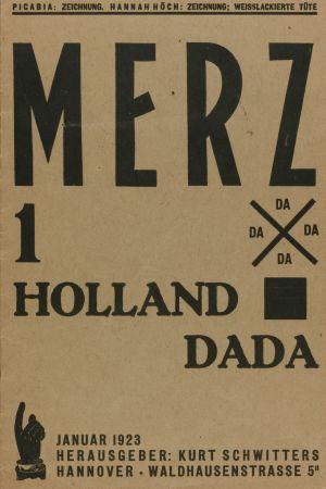 Kurt Schwitters tidning Merz. Dada-numret.