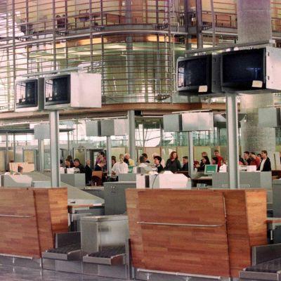 check-in området vid Oslos flygplats  Gardermoen.